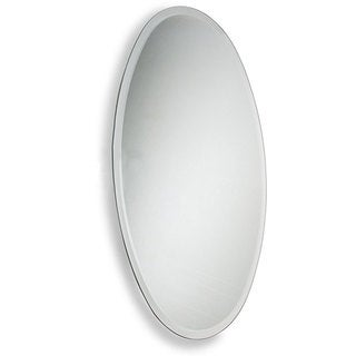 Oval Wall Mirror oval bathroom tilt wall mirror with beveled edge - free shipping