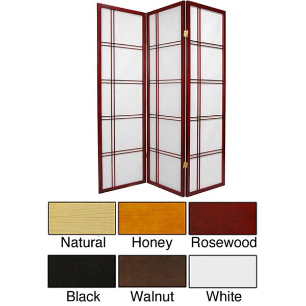 Handmade Double Cross 60-inch Room Divider (China)