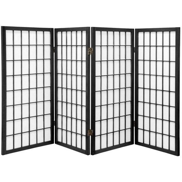 3 ft Handmade Wood/ Paper Panel Miniature Windowpane Shoji Screen (China)