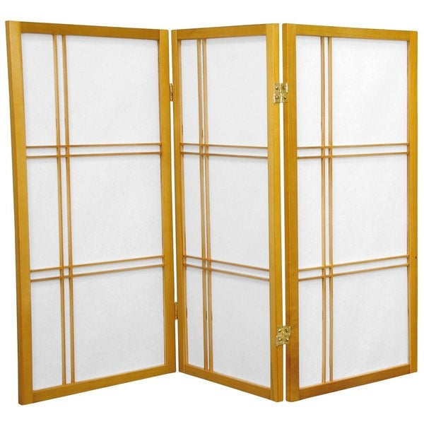 Handmade Wood And Rice Paper Double Cross 3 Foot Shoji Screen China