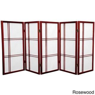 Wood and Rice Paper Double Cross 3-foot Shoji Screen (China)