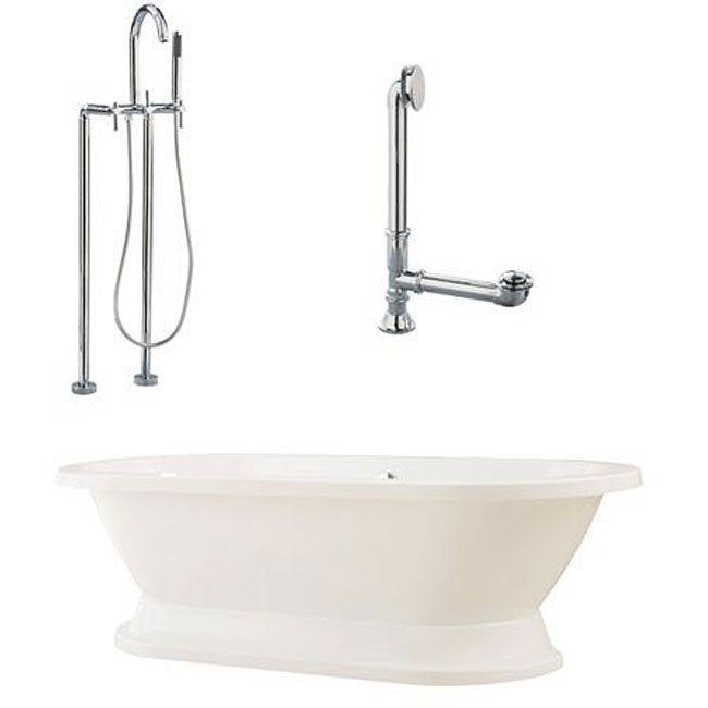 Shop Capri Oval Tub With Plinth And Floor Mount Package