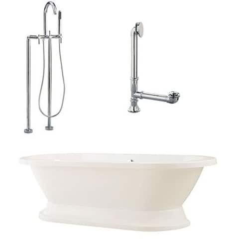 Capri Oval Tub with Plinth and Floor Mount Package