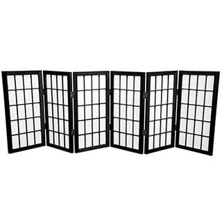 Handmade Wood/ Paper 2-foot 3-panel Miniature Windowpane Shoji Screen (China)