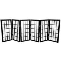 Handmade Wood/ Paper 2-foot 3-panel Miniature Windowpane Shoji Screen (China) - 24 x 36