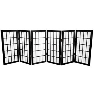 Handmade Wood/ Paper 2-foot 3-panel Miniature Windowpane Shoji Screen (China) - 24 x 36