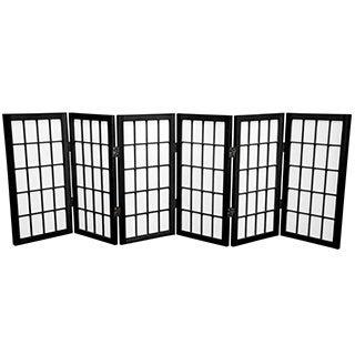 Handmade Wood/ Paper 2-foot 3-panel Miniature Windowpane Shoji Screen (China) - 24 x 36 (More options available)