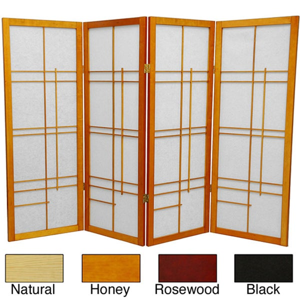 handmade wood and rice paper eudes 48inch shoji screen china
