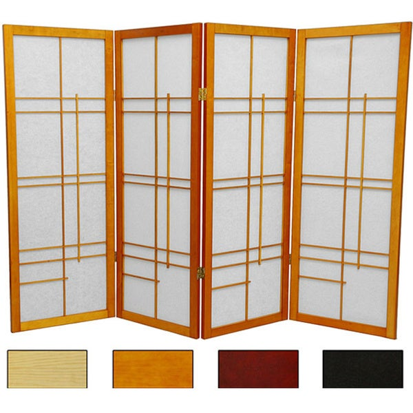 Handmade Wood And Rice Paper Eudes 48 Inch Shoji Screen China