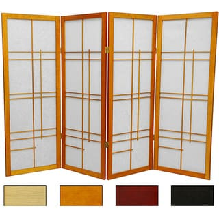 Handmade Wood and Rice Paper Eudes 48-inch Shoji Screen (China)