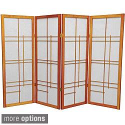 Handmade Wood and Rice Paper Eudes 48-inch Shoji Screen (China)