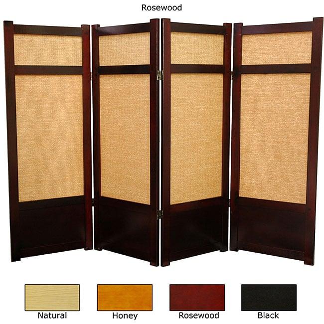 Wood and Jute 48-inch Shoji Screen (China)