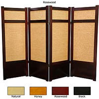 Handmade Wood and Jute 48-inch Shoji Screen (China) - 48 x 70