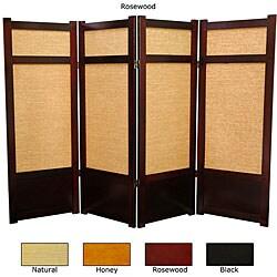Handmade Wood and Jute 48-inch Shoji Screen (China) - 48 x 70