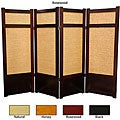 Handmade Wood and Jute 48-inch Shoji Screen (China)