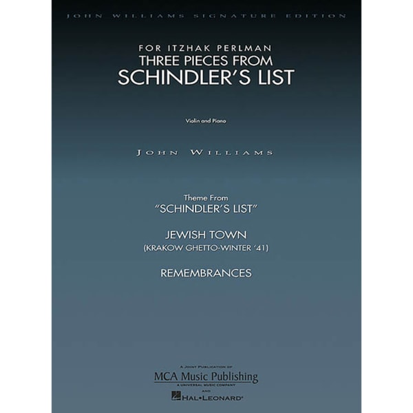 Three Pieces from Schindler's List for Itzhak Perlman: Violin & Piano (Paperback)