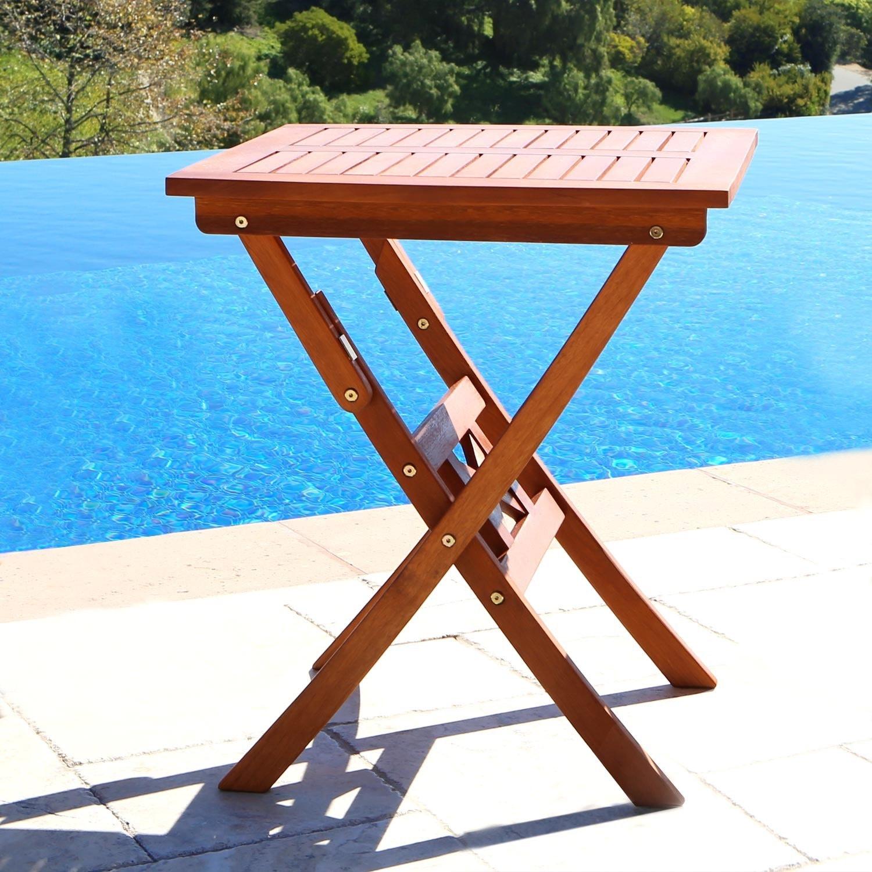 Glaser 24 Inch Folding Bistro Table