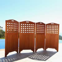 The Gray Barn Bluebird Hardwood Privacy Screen