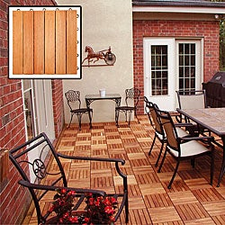 Eucalyptus 6-slat Snapping Deck Tiles (Box of 10)