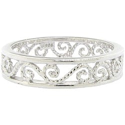 Sterling Silver Cutout Filigree Ring