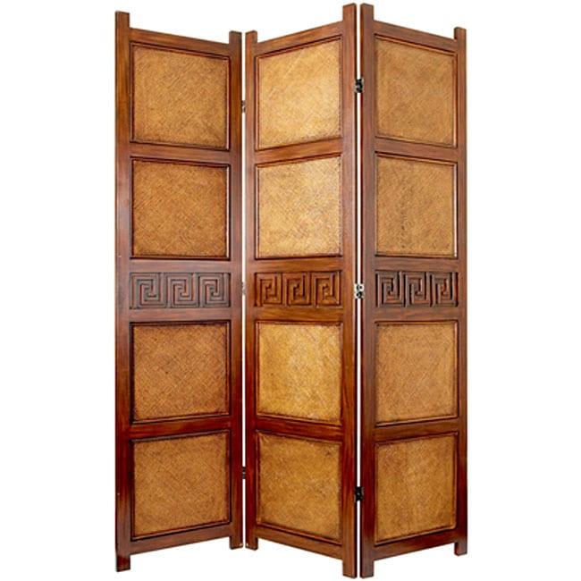 Handmade Peiking 3-panel Room Divider (China)