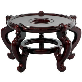 Handmade Dark Rosewood 15.5-inch Fishbowl Stand (China)