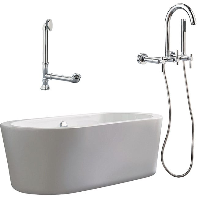 Shop Ventura Apron Tub And Wall Mount Faucet Package Free Shipping