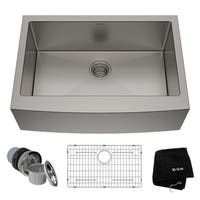 Kraus KHF200-30 Standart PRO Farmhouse Apron 30-inch 16 gauge Single Bowl Satin Stainless Steel Kitchen Sink