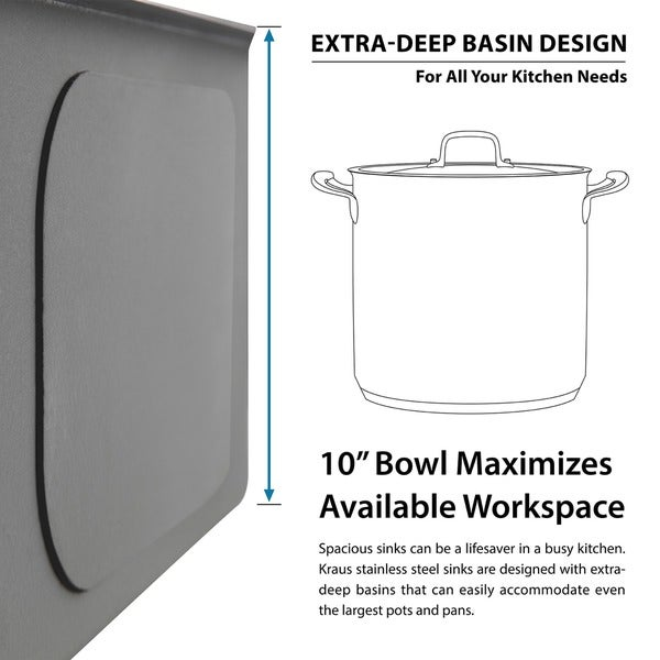 KRAUS 30 Inch Undermount Single Bowl 16 Gauge Stainless Steel Kitchen Sink  With NoiseDefend Soundproofing   Free Shipping Today   Overstock.com    11477701