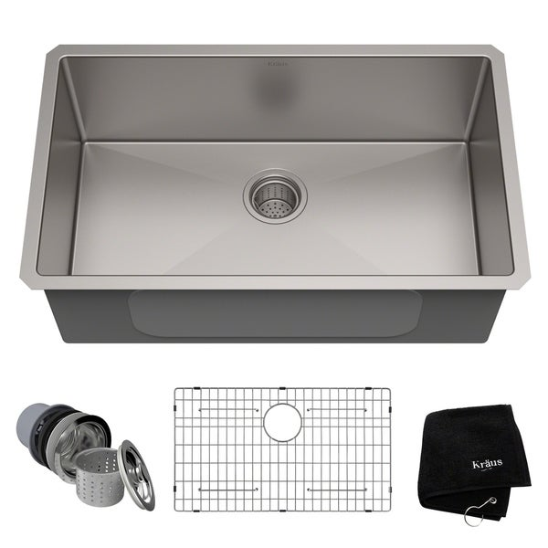 Shop Kraus KHU100-30 Standart PRO Undermount 30-inch 16 gauge Single on granite kitchen sink ideas, solid surface kitchen sink ideas, bathroom accessories ideas, undermount kitchen sink brands, bathroom furniture ideas, white kitchen sink ideas, bathroom vanity ideas, contemporary bathroom ideas, shower ideas, bathroom set ideas, freestanding kitchen sink ideas, home ideas, bathroom lighting ideas, stainless kitchen sink ideas, bathroom makeover ideas, farmhouse kitchen sink ideas, undermount kitchen sink support, corner kitchen sink ideas,