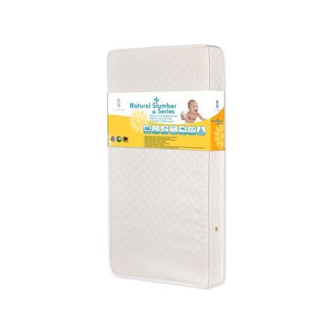 LA Baby Natural l Crib Mattress with Natural Coconut Fiber & Organic Cotton Layer
