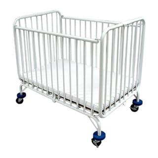 LA Baby Full-size Folding Metal Crib
