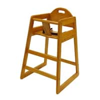 LA Baby Stackable Wooden High Chair