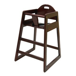 LA Baby Commercial Grade Cherry High Chair