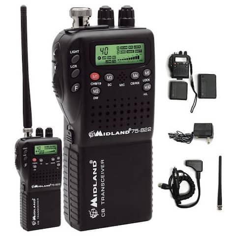 Midland 75-822 Mini 40-channel Cb Radio With Weather/all-hazard Monitor & Mobile