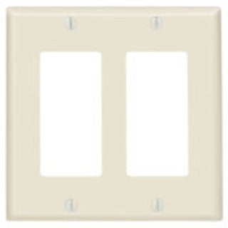 Leviton 80409w Residential-grade Decora White 2-gang Wall Plates