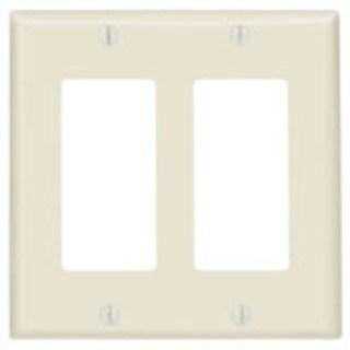 Leviton 80409w Residential-grade Decora White 2-gang Wall Plates
