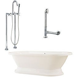 Capri Plinth Oval Tub and Floor Mount Faucet Package