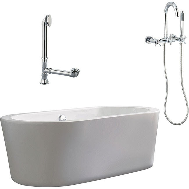 Shop Ventura Apron Tub And Wallmount Faucet Package Free