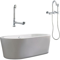 Ventura Apron Tub and Wallmount Faucet Package