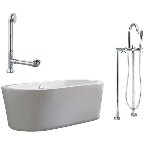 Ventura Apron Tub and Floor Mount Faucet Package