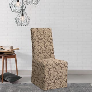 living room chair slipcovers. Sure Fit Scroll Dining Room Chair Slipcover Covers  Slipcovers For Less Overstock com