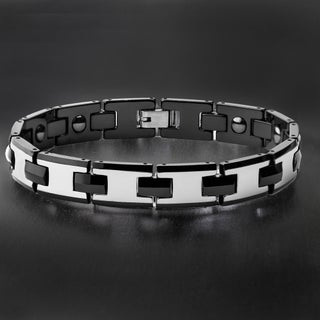 Men's Polished Tungsten Carbide Bracelet - 8.5 Inches
