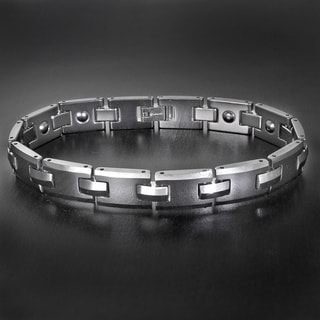 Men's Polished Tungsten Carbide Bracelet - 8.75 Inches