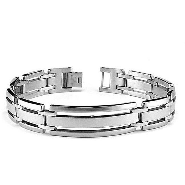 Stainless Steel Cutout ID Bracelet
