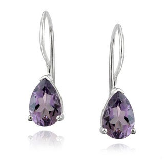 Glitzy Rocks 1 2/3ct TGW Gemstone Teardrop Earrings