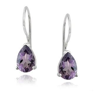 Glitzy Rocks 1 2/3ct TGW Gemstone Teardrop Earrings