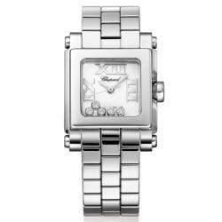 Chopard Women's 'Happy' Steel Floating Diamond Sport Watch
