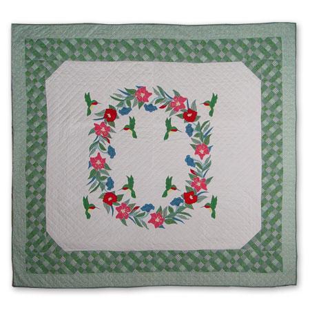 'Hummingbird' Queen-size Quilt