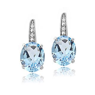 Glitzy Rocks Sterling Silver Gemstone and Diamond Accent Leverback Earrings|https://ak1.ostkcdn.com/images/products/3401969/P11484975.jpg?impolicy=medium